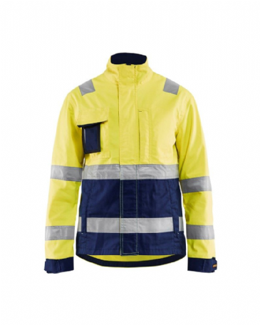 Blaklader 4903 Ladies High Vis Jacket (Yellow/Navy Blue)